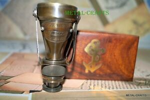 Antique Brass Binocular And Nautical Telescope Brass Anchor With Wood Box Gift