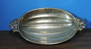 Vintage Tiffany Co Makers Sterling Silver M Star Melon Fruit Footed Bowl 22974