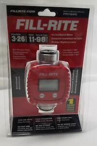 Fill rite Fr1118a10 3 26 Gpm In line Digital Flow Meter Aluminum