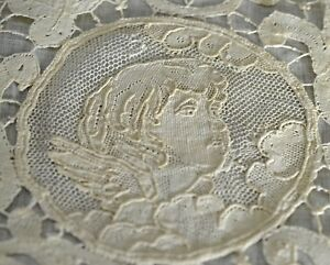 Putti Dainty Antique Lace Pillow Sham Uu41