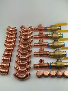 lot Of 35 Viega imported 1 Propress Fittings Valves Lead Free