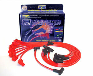Taylor Cable 74204 Spark Plug Wires Spiro pro 8mm Red 135 Degree Boots Gm