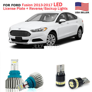 Canbus 168 Led License Plate 921 912 Backup Light Bulb For 2013 17 Ford Fusion