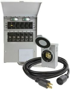 Reliance Controls Transfer Switch Kit 30 Amp 250 volt 7500w Non fuse 6 circuit
