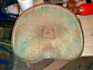 Vintage Tractor Steel Pan Seat Machinery Seat Old Cub Cadet Rider Seat Part Ihc