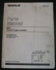 Cat Caterpillar 963 Lgp Track Loader Parts Manual Book S n 21z1 up