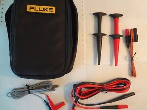 Fluke Tl910 Probes Tl224 Test Leads Ac280 Clips 80bk a Temp Probe C35 Case