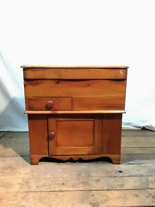 Pine Lift Top Commode Or Dry Sink
