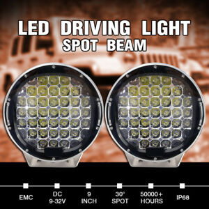 2x 9 740000lm Cree Led Driving Spotlight Spot Work Round 4wd Offroad Black 12v