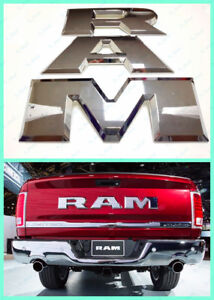 New Chrome Ram 1500 Tailgate Ram Rear Emblem Letters Fit For 2015 2018 Dodge Ram