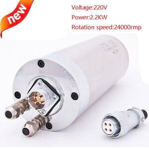 220v Spindle Motor Engraver Spindle 80mm For Cnc Router Mill Machine 2 2kw New