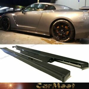 Fit Nissan 08 11 Gtr R35 Coupe Carbon Fiber Wrapped Side Skirt Add on Lower Lip