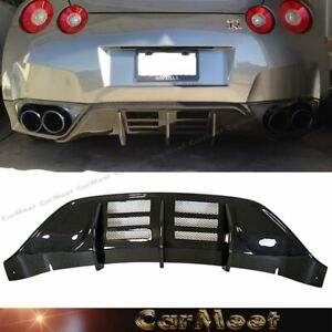 Fit Nissan 08 11 Gtr R35 Coupe Carbon Fiber Wrapped 7c Back Bumper Diffuser Lip