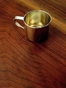 Wallace Sterling Silver Baby Christening Cup No Monogram Pristine