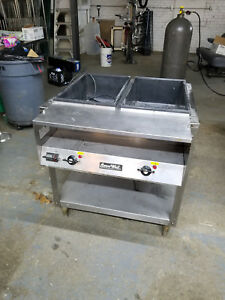 Nice Serve Well Commercial Two Pan Hot Steam Food Table