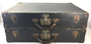 Antique Luggage Suitcase For Vehicle Car Auto Rear Trunk Packard Custom Made X2