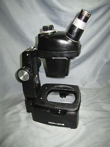 Bausch Lomb Stereo Microscope W Stand 10x W f Eyepieces