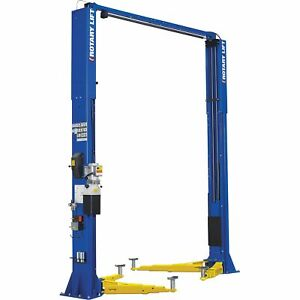 Rotary 2post Symmetrical Low Ceiling Truck Lift 12 000lb Capacity Spo12l7t5bl