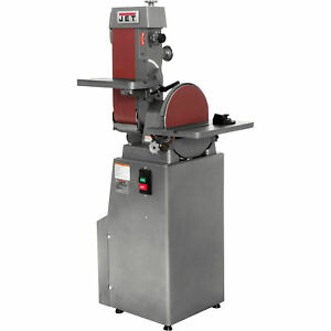 JET 1-12HP 3-Phase Combo BeltDisc Finishing Sander-6x48in.Belt12in.Disc