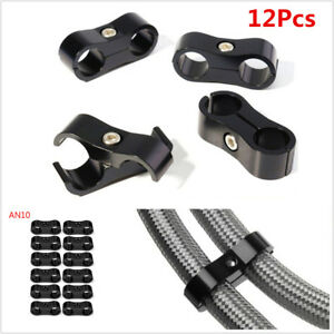 12x An10 19mm Hose Separator Clamp Hose Fitting Connector For Oil fuel Hose Line