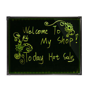 32 x24 Led Menu Dry Erase Message Writing Board Sign Pens Illuminated Lighted