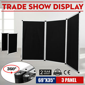 70 8 X 35 Folding 3 Panels Trade Show Display Booth Screen Backdrop Velcro On