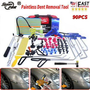 Paintless Dent Removal Repair Puller Lifter Hammer Pdr Push Rods Tools Tail Kit