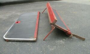 Original 1950 1951 ford And Merc Woodie second Seat Frames nice Stainless Trim