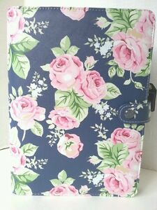 Websters Pages Color Crush Floral Planner Kit New A5 Navy Blue 6 Ring Binder