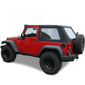 Jeep Wrangler Jk 2007 18 2 Door Ridge Runner Frameless Style Soft Top
