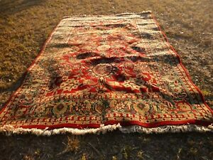 Vintage Large Hand Knotted Hand Power Loomed Persian Style Oriental