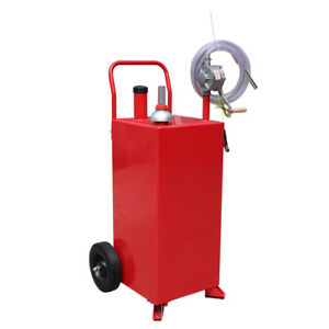 30 Gallon Manual Gas Fuel Diesel Caddy Kit Gas Transfer Tank Container W Hose