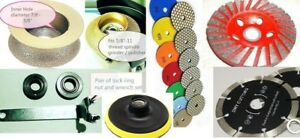 2 Full Bullnose 5 Diamond Dry Polishing Pad Cup Blade 9 1 Concrete Marble Edge