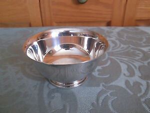 Vintage Silverplated Footed Candy Dish Gorham Ep Yc 795