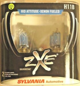 Sylvania Silverstar Zxe Pair Set Headlight Bulbs Xenon Fueled H11b