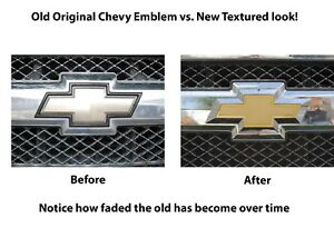Gold Front Grille Bowtie Emblem Badge Replaces Oem 22829421 For 2007 2011 Chevy