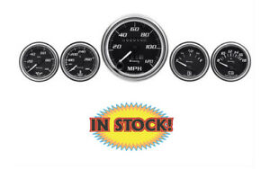 Autometer E7500 Equus E7500 5 Piece Gauge Kit Black Background