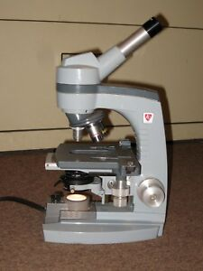 Ao Spencer Monocular Microscope model 1034 With 3 Objectives 10x 45x 100x