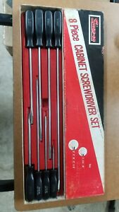Snap On 8 Piece Flat Tip Long Screwdriver Set