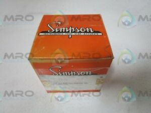 Simpson 17536 Panel Meter New In Box