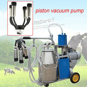 Usa 25l Electric Piston Milking Machine Milker Farm Cow Bucket 10 12cows hour Ce