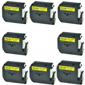 Us Stock 8pk M k631 Mk631 Black On Yellow Label Tape For Brother P touch 1 2