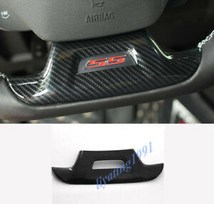 Carbon Fiber Style Steering Wheel Decor Cover Trim For Chevrolet Camaro 17 18