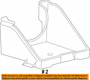 Ford Oem 05 07 F 250 Super Duty 6 0l V8 Battery Tray Left 5c3z 10732 Aa
