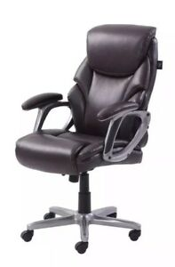 Serta Big Tall Commercial Office Chair W memory Foam Brown Nice