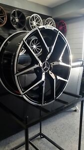 20x9 5 Black Y Amg Style Wheels Fits Mercedes Benz Gl Gl350 Gl450 Gl550