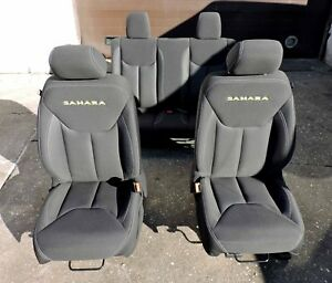 2007 2017 Jeep Wrangler 2 Doors Seat Sahara Front Rear Seats Full Set Black