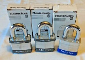 lot Of 3 new Master Lock 27wo Laminated Padlock Without Cylinder