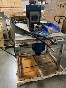 Parker Production Crimper Hydraulic Hose Assembly Table Top Tt 32 Crimping