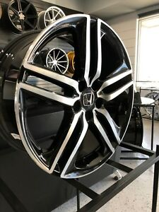 19x8 0 Black Hfp Style Rims Wheels Fits Honda Ex Exl Crv Accord Sport 5x114 3